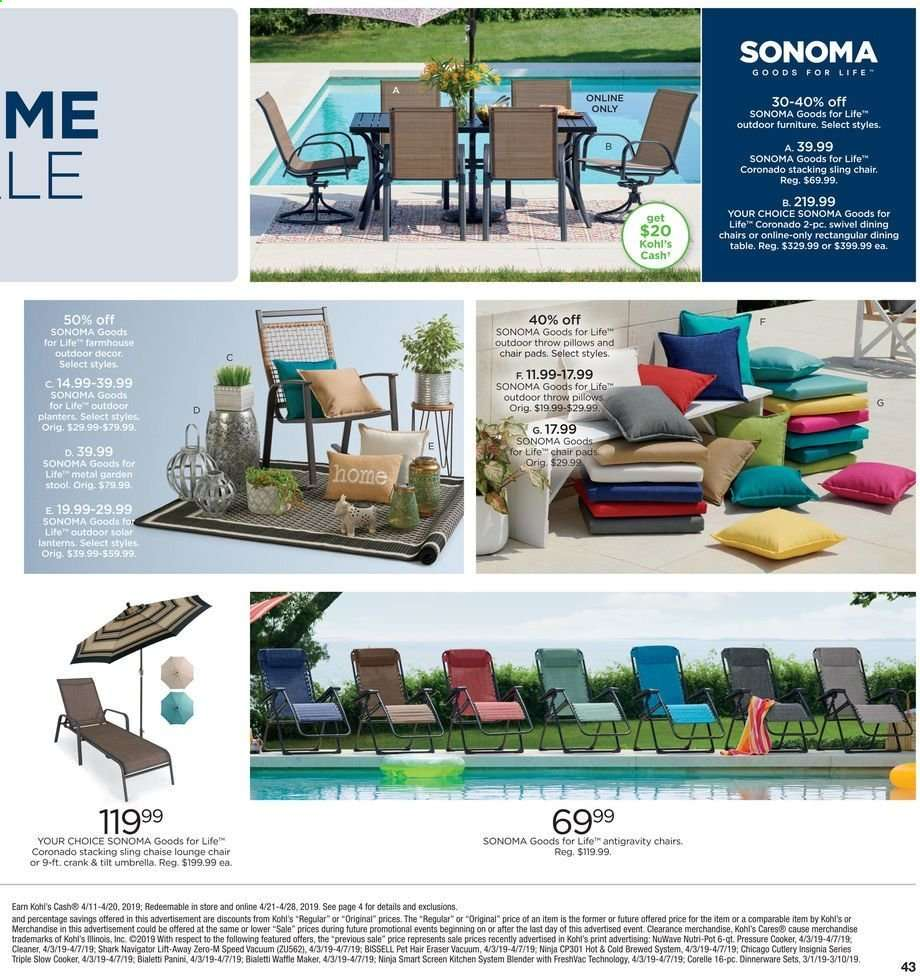 Stupendous Kohls Flyer 04 11 2019 04 20 2019 Weekly Ads Us Andrewgaddart Wooden Chair Designs For Living Room Andrewgaddartcom