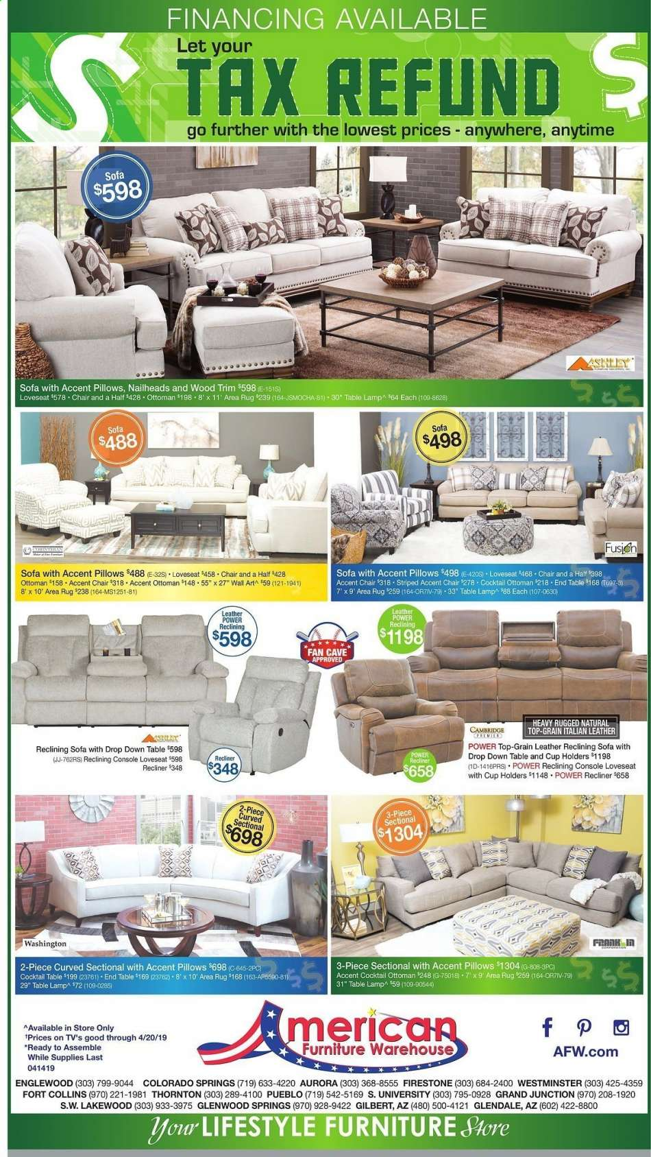 American Furniture Warehouse Flyer 04 14 2019 04 20 2019 Weekly