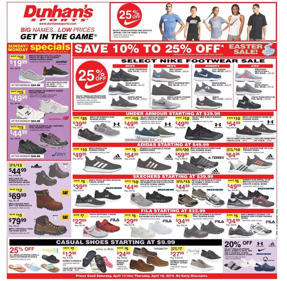a3bdfe6ed92 Dunham s Sports Flyer - 04.13.2019 - 04.18.2019 - Sales products - adidas