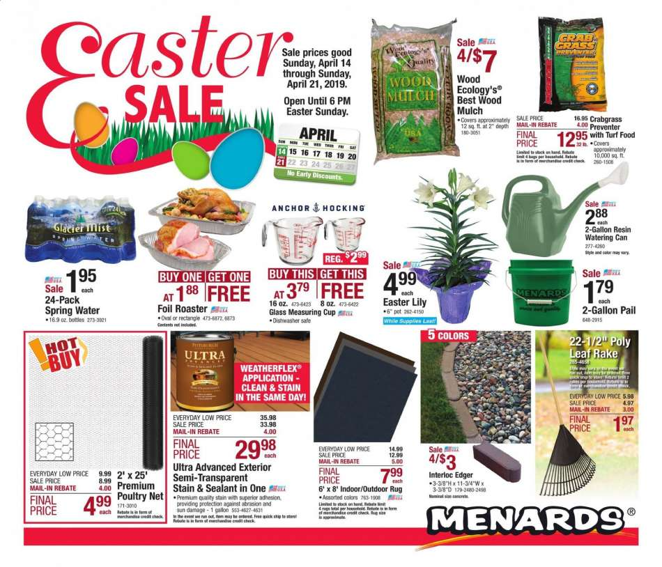 Menards Flyer 04 14 2019 04 21 2019 Weekly Ads Us