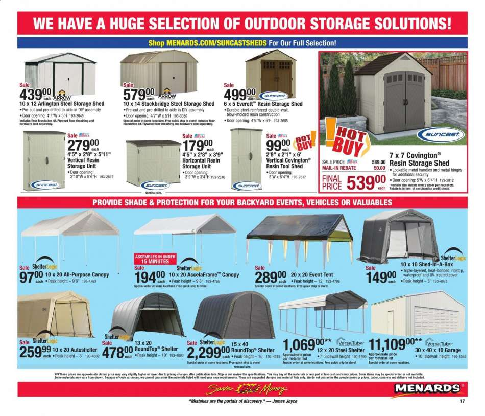 Menards flyer 04 14 2019 - 04 21 2019 | Weekly-ads us