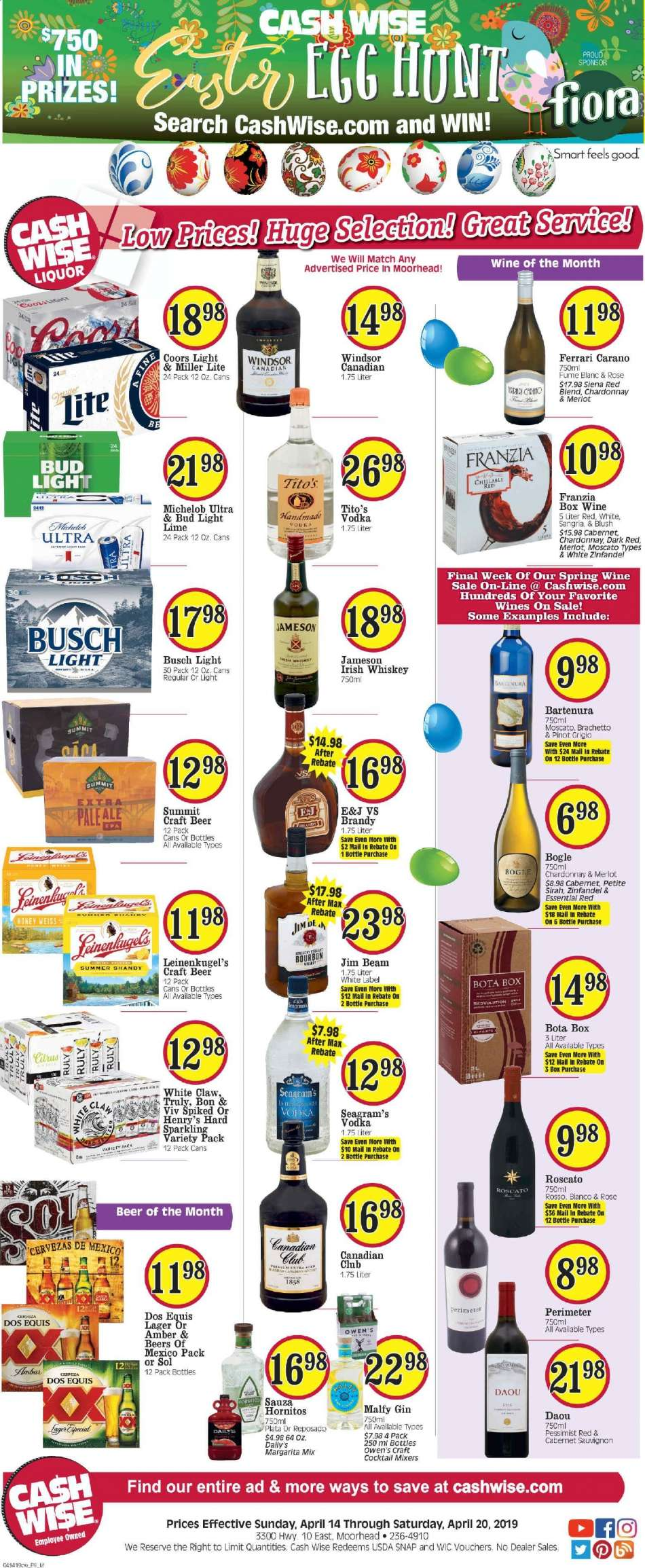 Cash Wise flyer 04 14 2019 - 04 20 2019 | Weekly-ads us