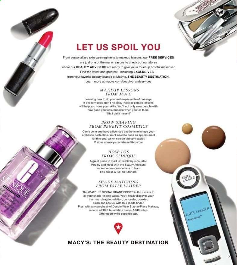 Macy's Flyer - 04.10.2019 - 04.16.2019 - Sales products - clinique,