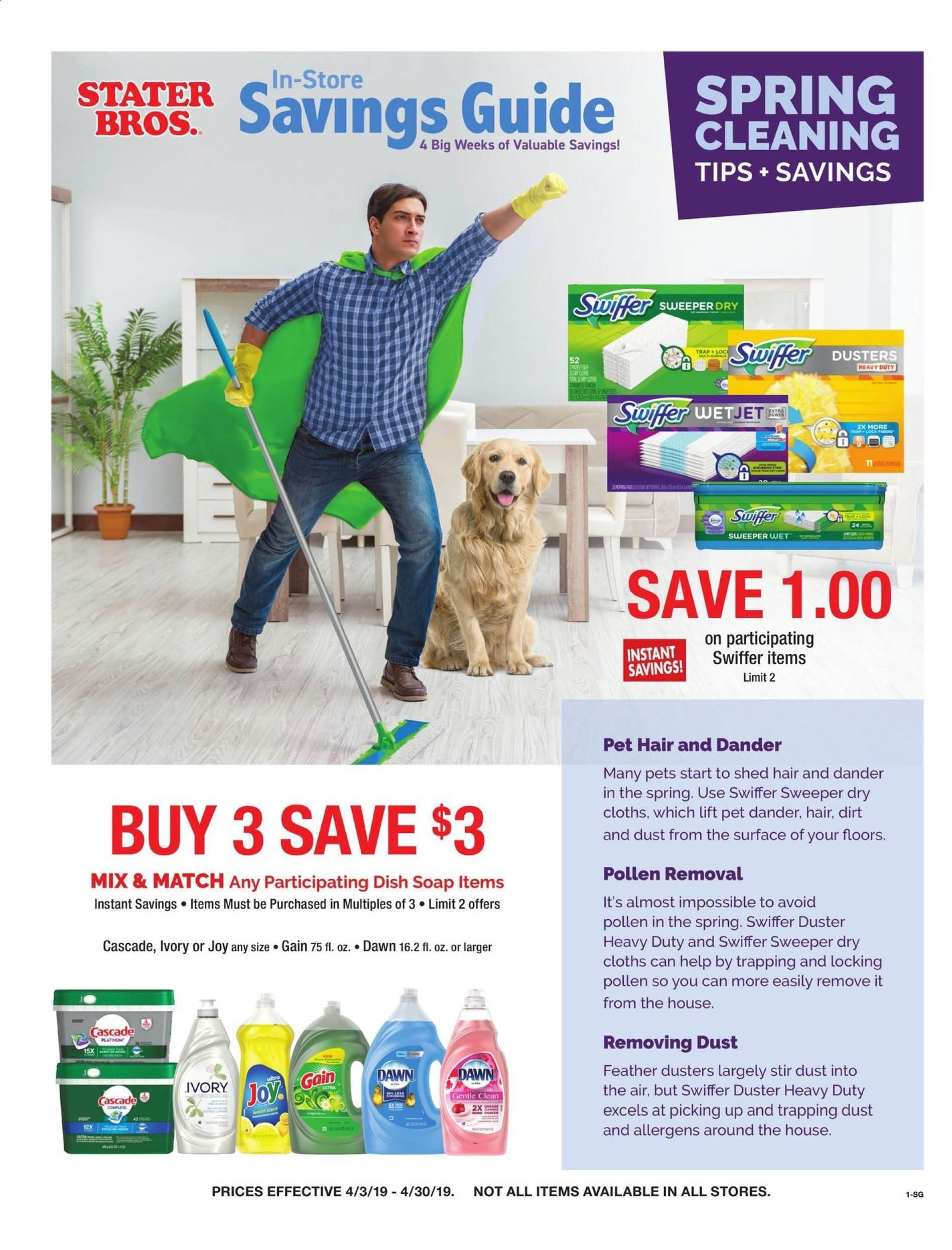 Stater Bros. Flyer  - 04.03.2019 - 04.30.2019. Page 1.