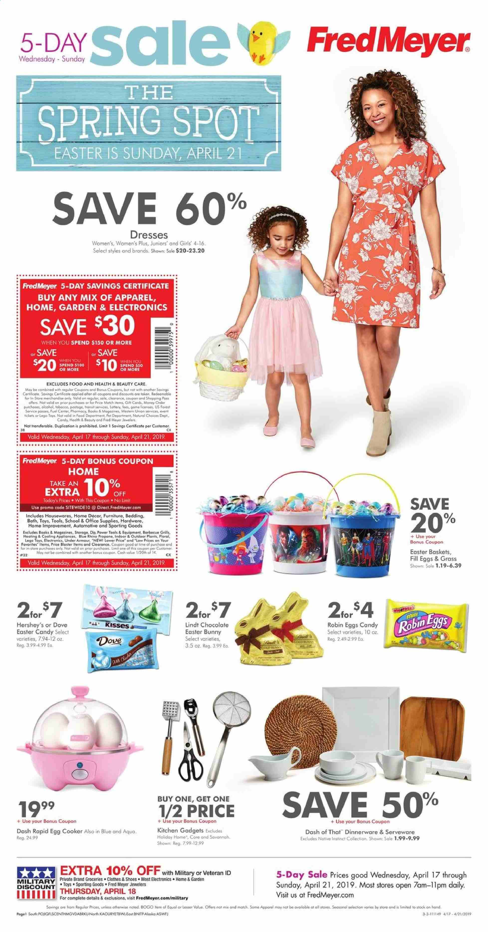 Fred Meyer Flyer  - 04.17.2019 - 04.21.2019. Page 1.
