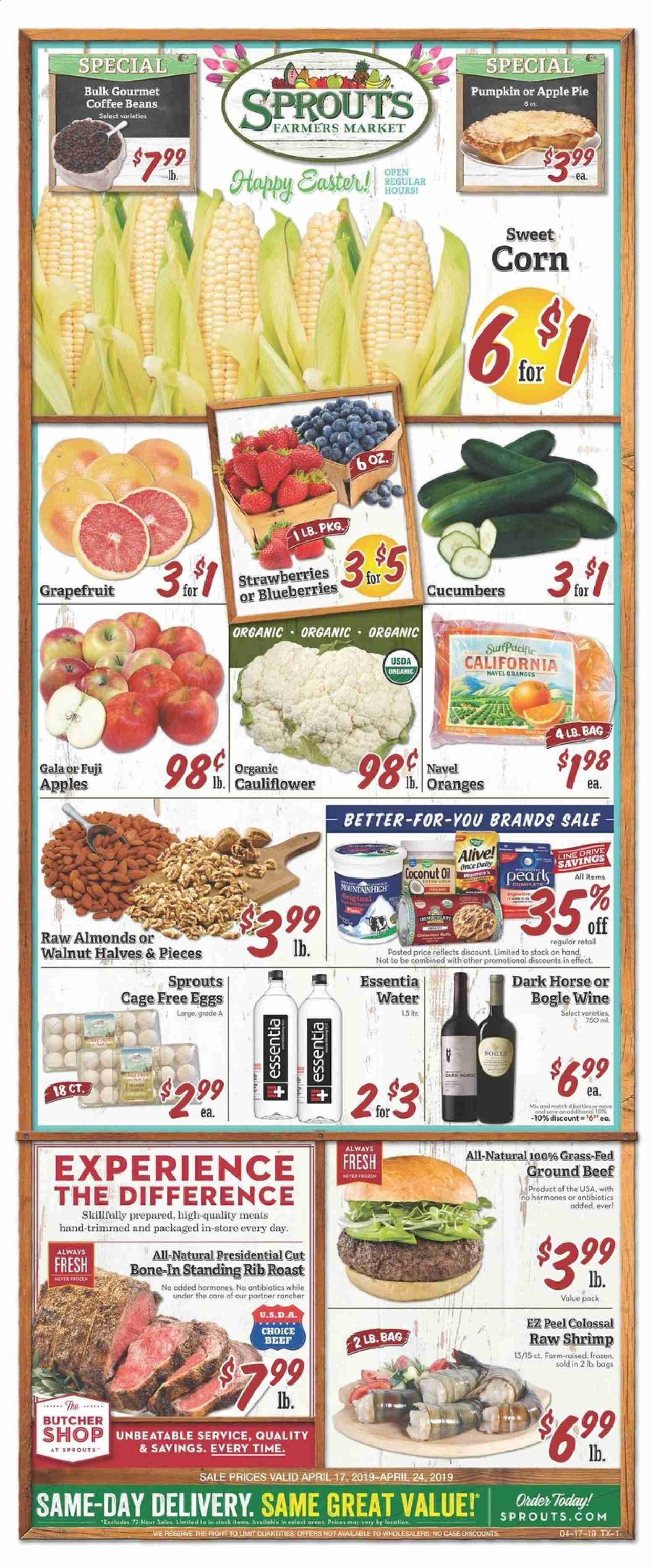 Sprouts Flyer  - 04.17.2019 - 04.24.2019. Page 1.