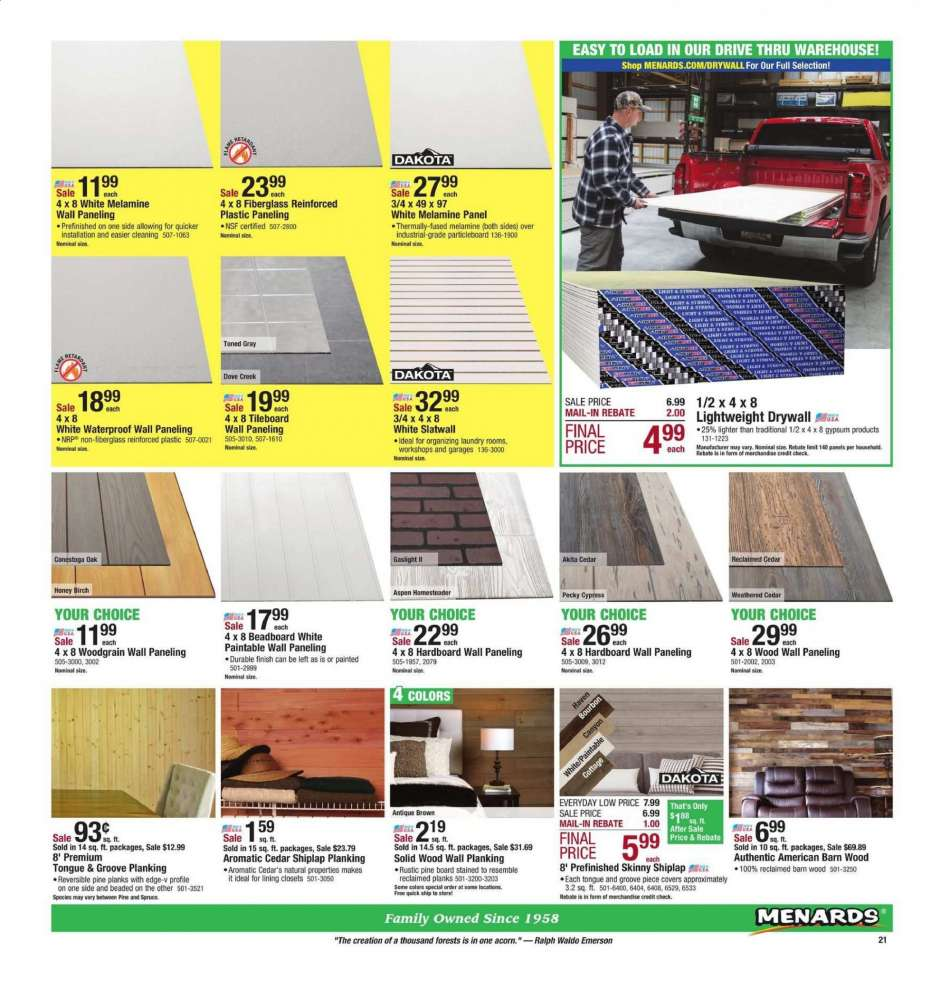 Menards flyer 04 21 2019 - 05 05 2019 | Weekly-ads us