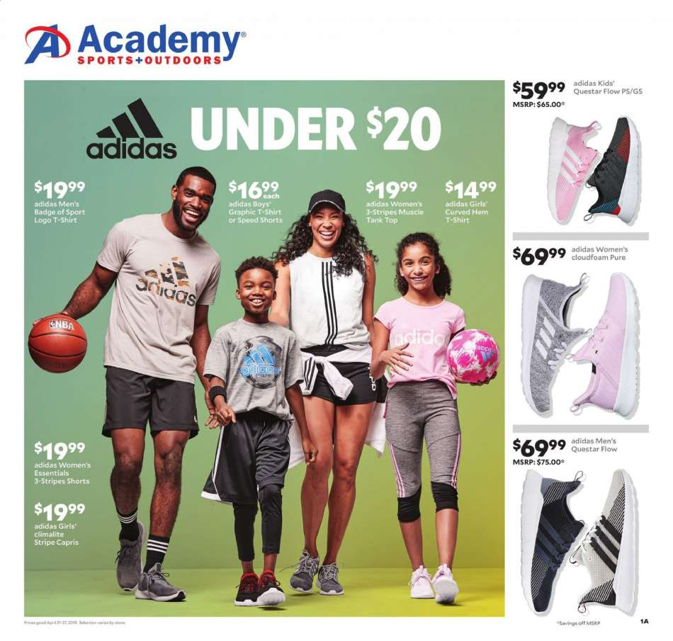 4fe150e85a76 Academy Sports Flyer - 04.21.2019 - 04.27.2019 - Sales products - adidas