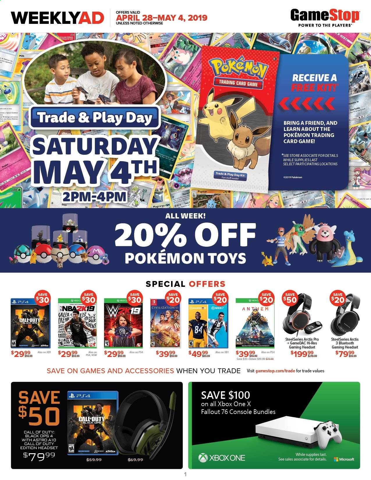 GameStop Flyer  - 04.28.2019 - 05.04.2019. Page 1.