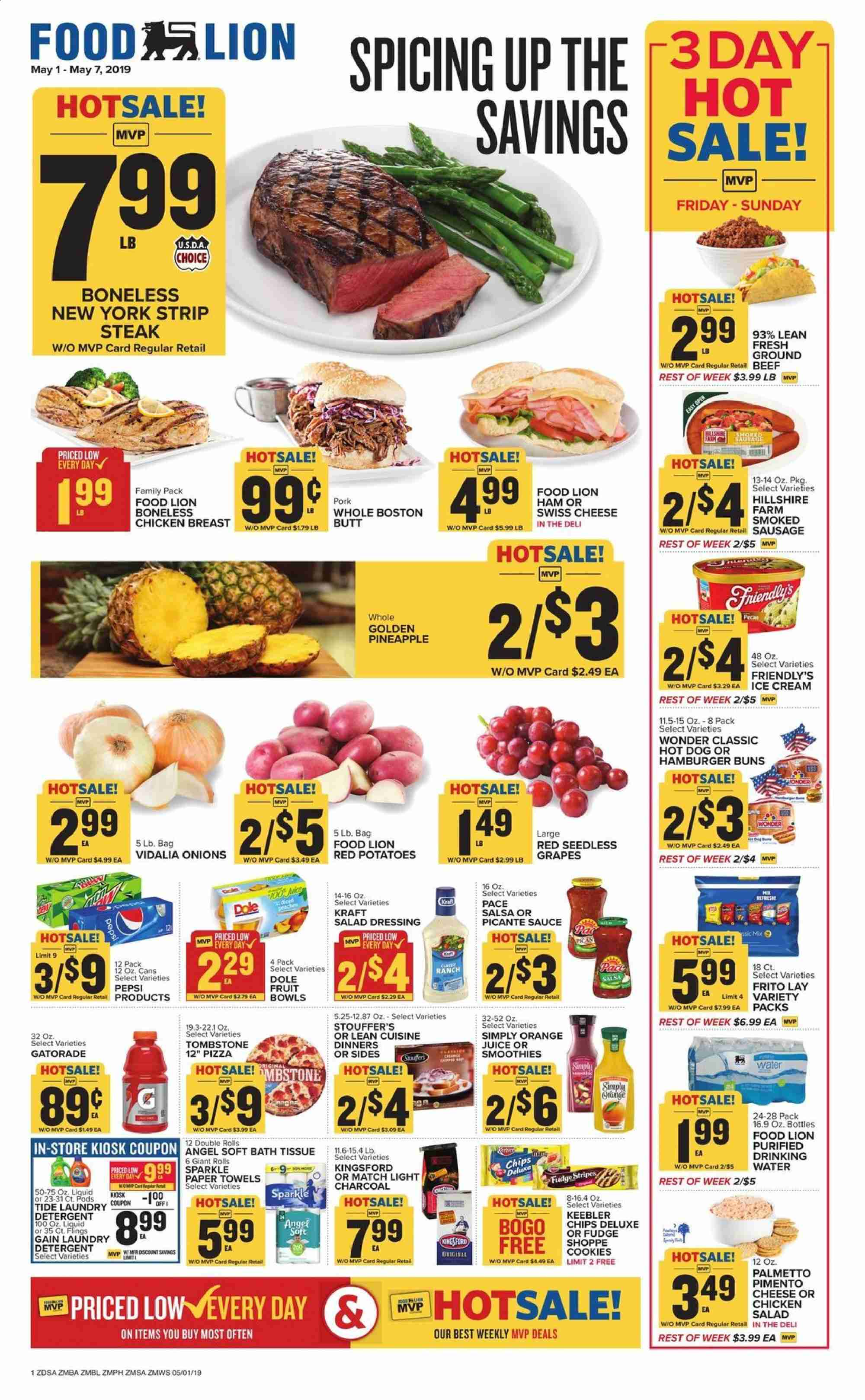 Food Lion Flyer  - 05.01.2019 - 05.07.2019. Page 1.