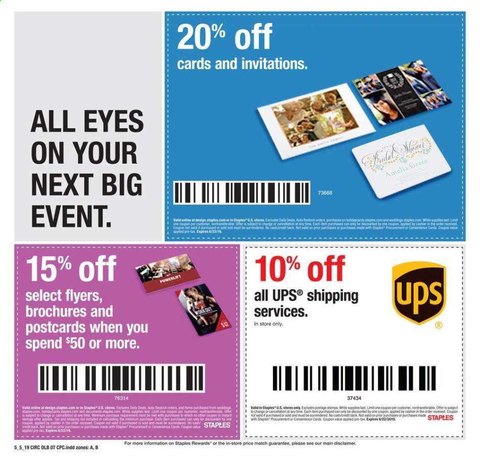 Staples Flyer 05 05 2019 05 11 2019 Weekly Ads Us