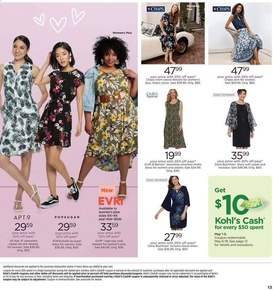 Kohl\'s flyer 05.05.2019 - 05.08.2019 | Weekly-ads.us