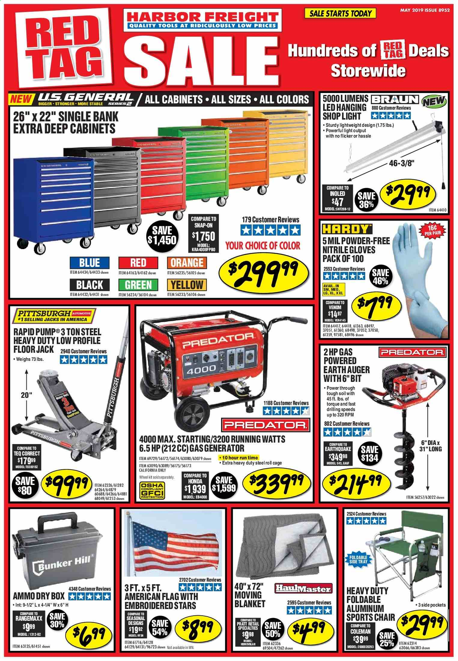 Harbor Freight Flyer  - 05.01.2019 - 05.31.2019. Page 1.