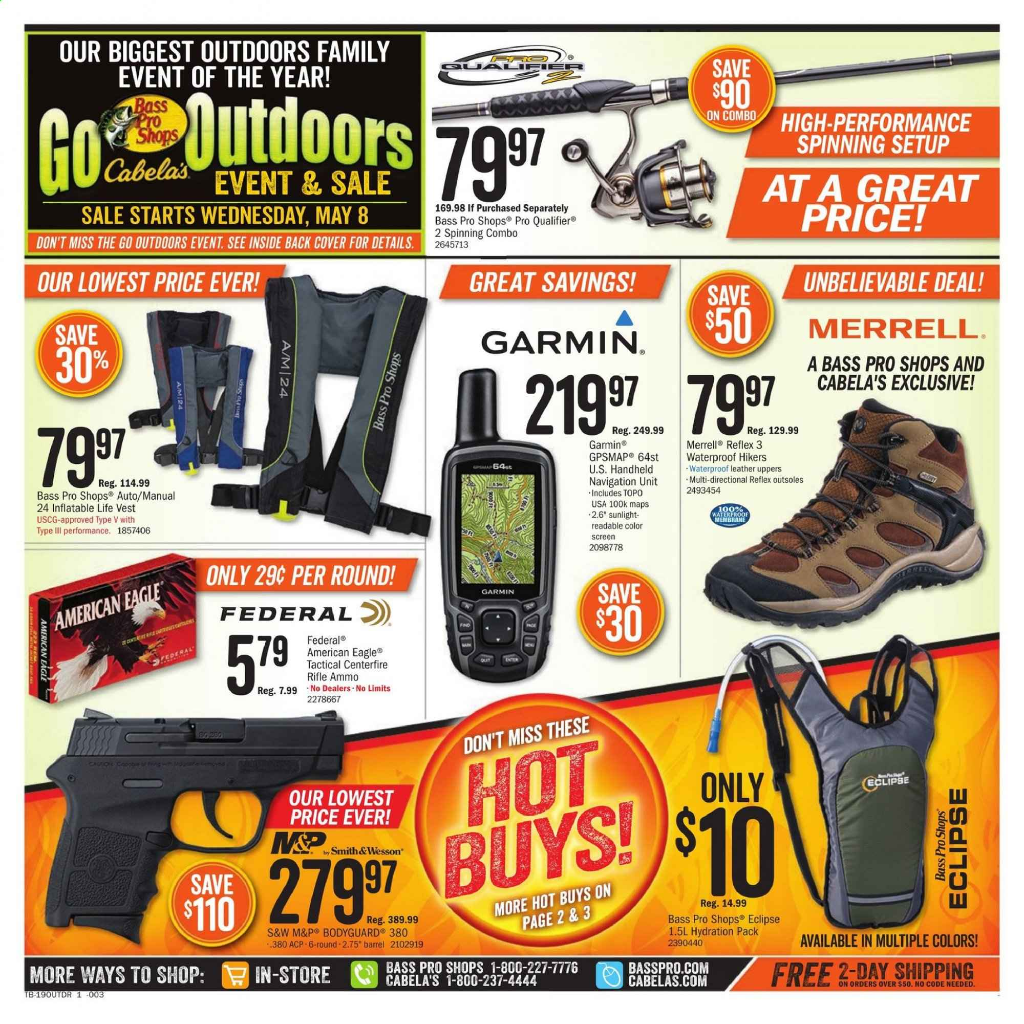Cabela's Flyer  - 05.08.2019 - 05.27.2019. Page 1.