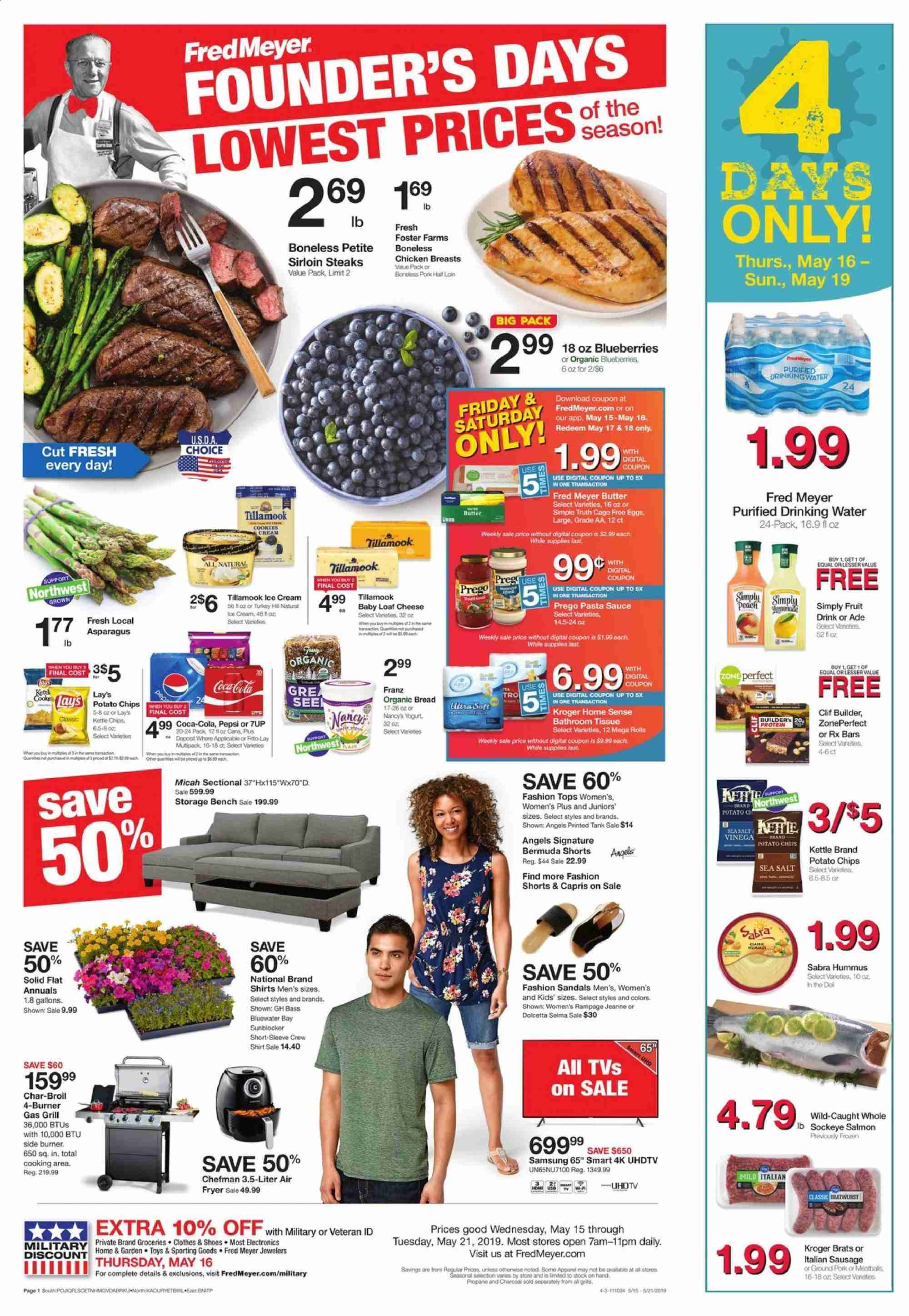 Fred Meyer Flyer  - 05.15.2019 - 05.21.2019. Page 1.