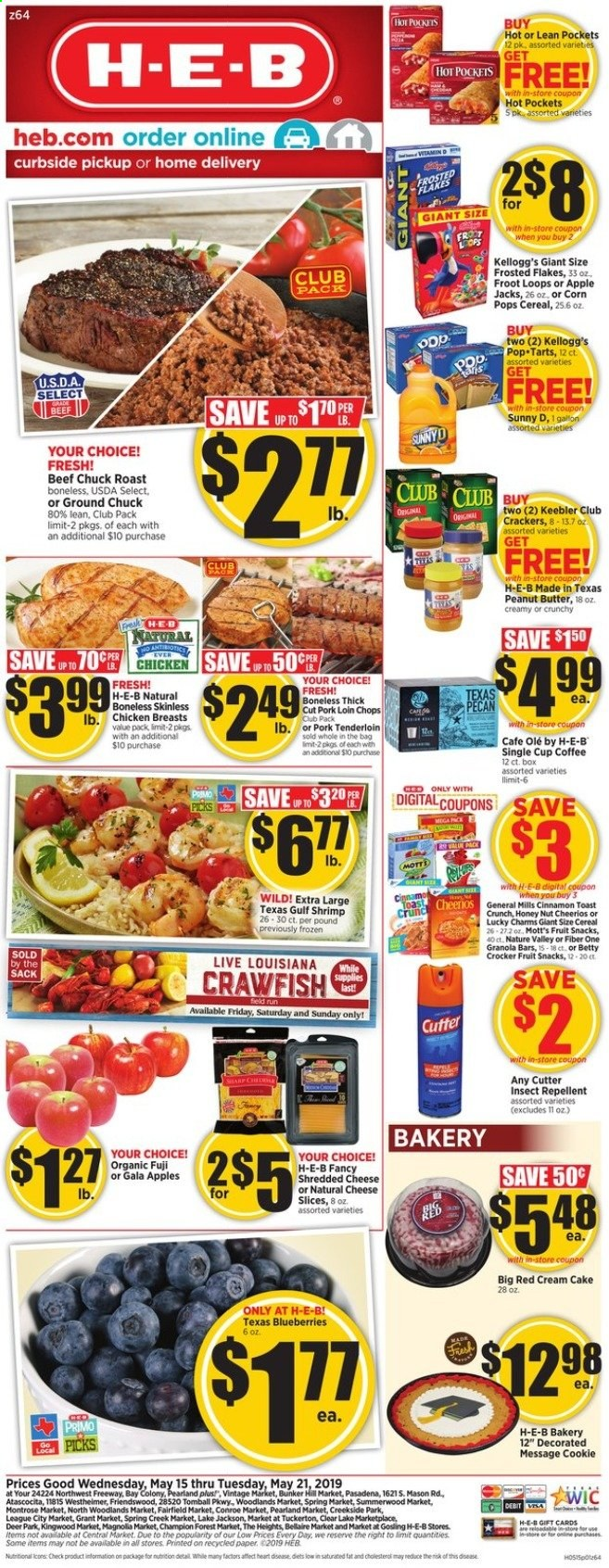 H-E-B Flyer  - 05.15.2019 - 05.21.2019. Page 1.