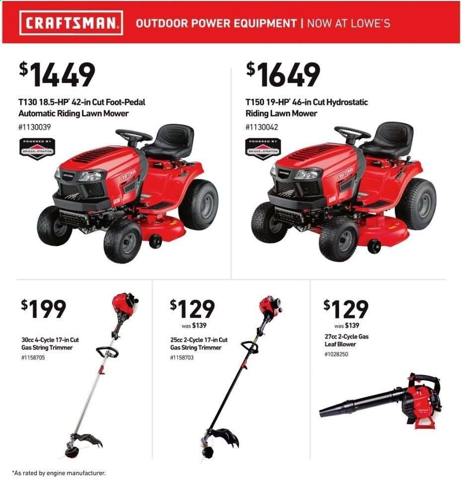 Lowe's flyer 05 16 2019 - 05 22 2019 | Weekly-ads us