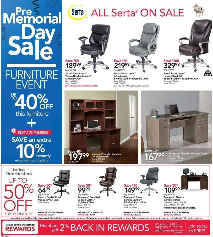 Astonishing Office Depot Flyer 05 19 2019 05 25 2019 Weekly Ads Us Pabps2019 Chair Design Images Pabps2019Com