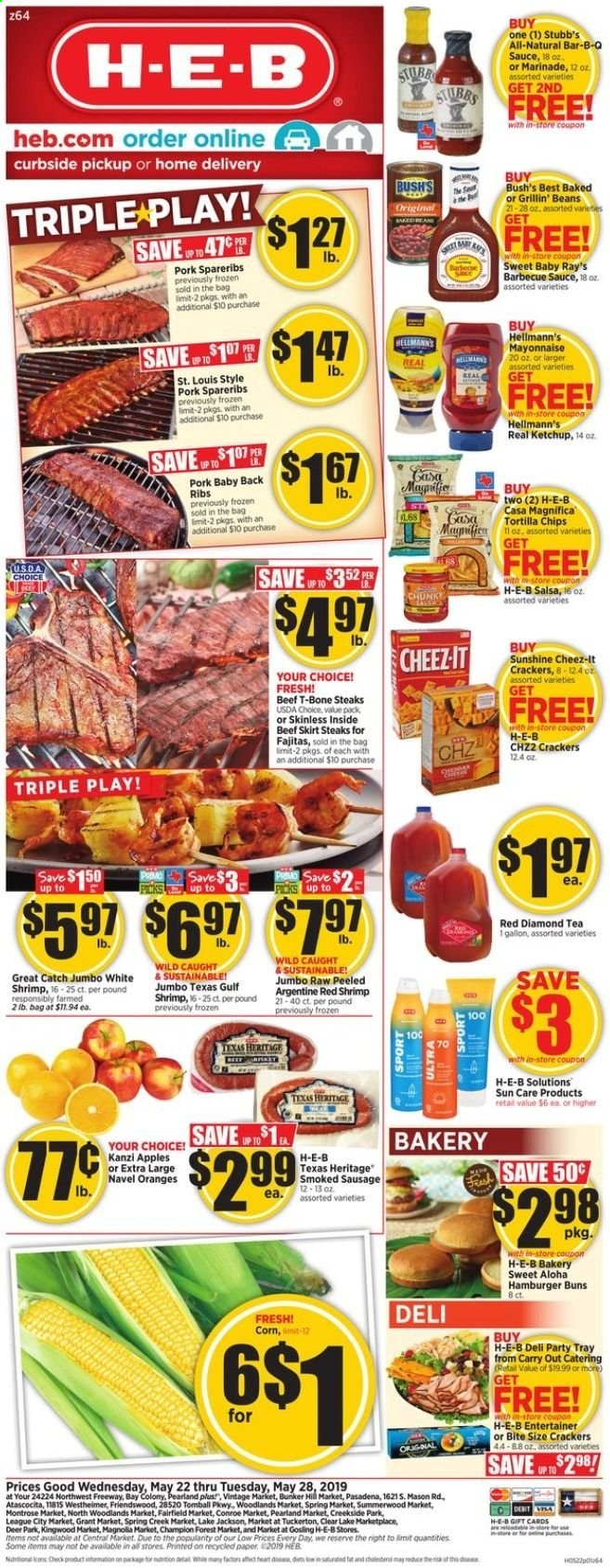 H-E-B Flyer  - 05.22.2019 - 05.28.2019. Page 1.