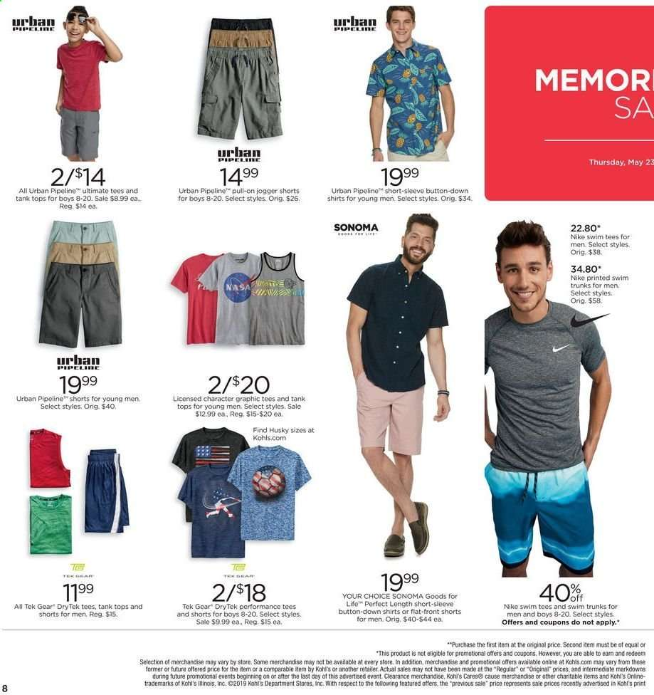 68f22cd8e3a Kohl's Flyer - 05.23.2019 - 05.27.2019 - Sales products - graphic tee