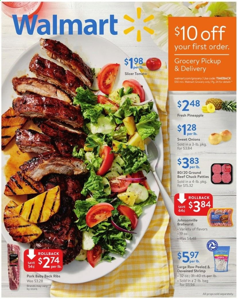 Walmart Flyer  - 05.24.2019 - 06.08.2019. Page 1.