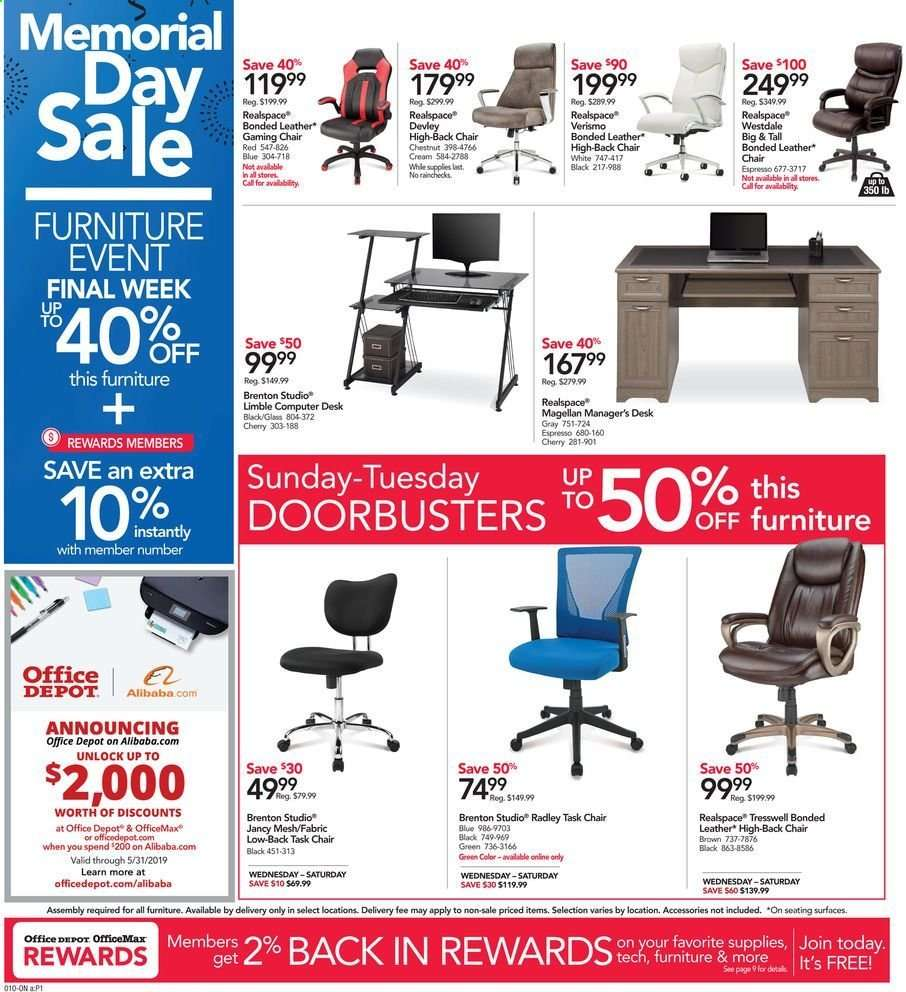 Office Depot Flyer 05 26 2019 06 01 2019 Weekly Ads Us