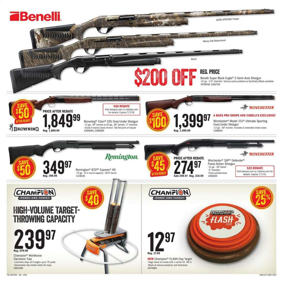 Cabela's flyer 05 28 2019 - 06 16 2019 | Weekly-ads us
