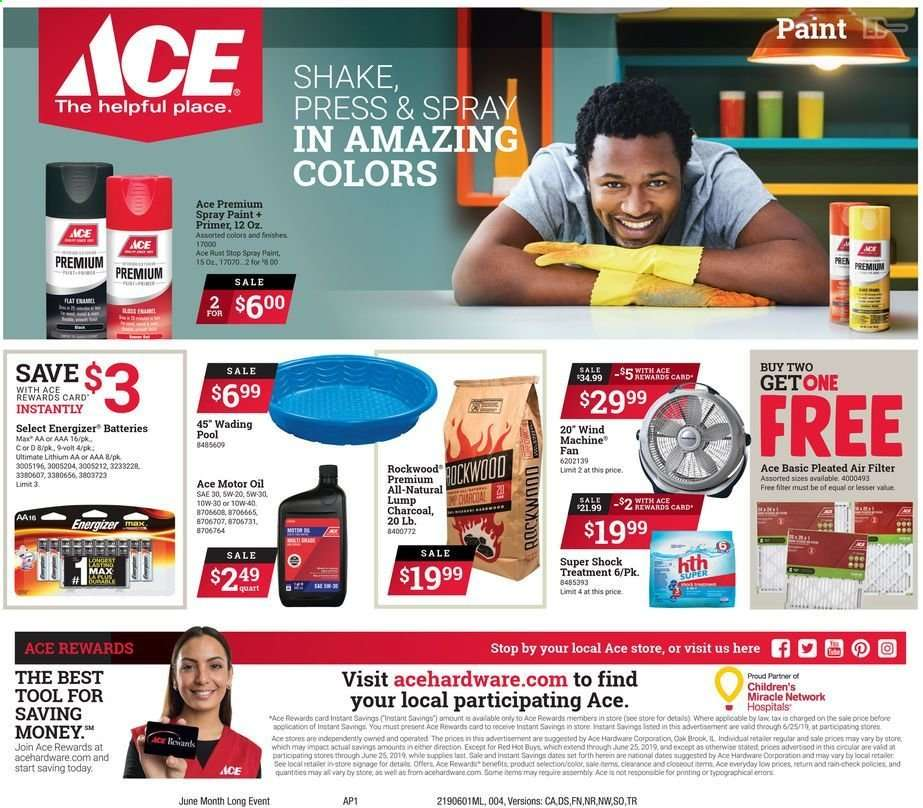 Ace Hardware Flyer 06 01 2019 06 25 2019 Weekly Ads Us
