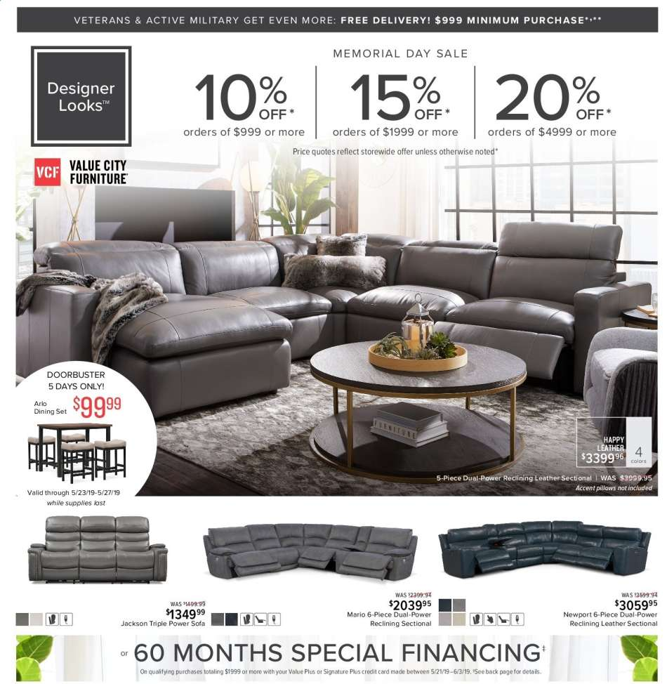 Value city furniture flyer 05 21 2019 06 03 2019 sales products