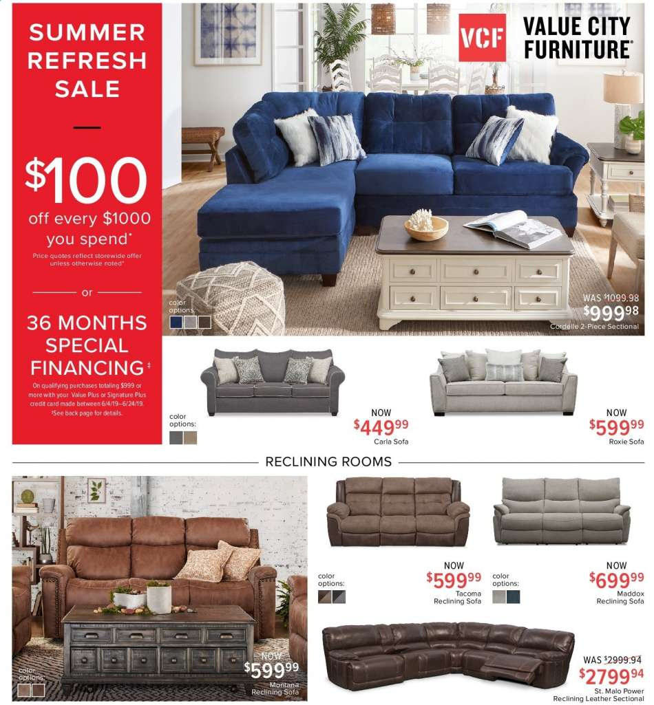 Value City Furniture Flyer 06 04 2019 06 24 2019 Weekly Ads Us