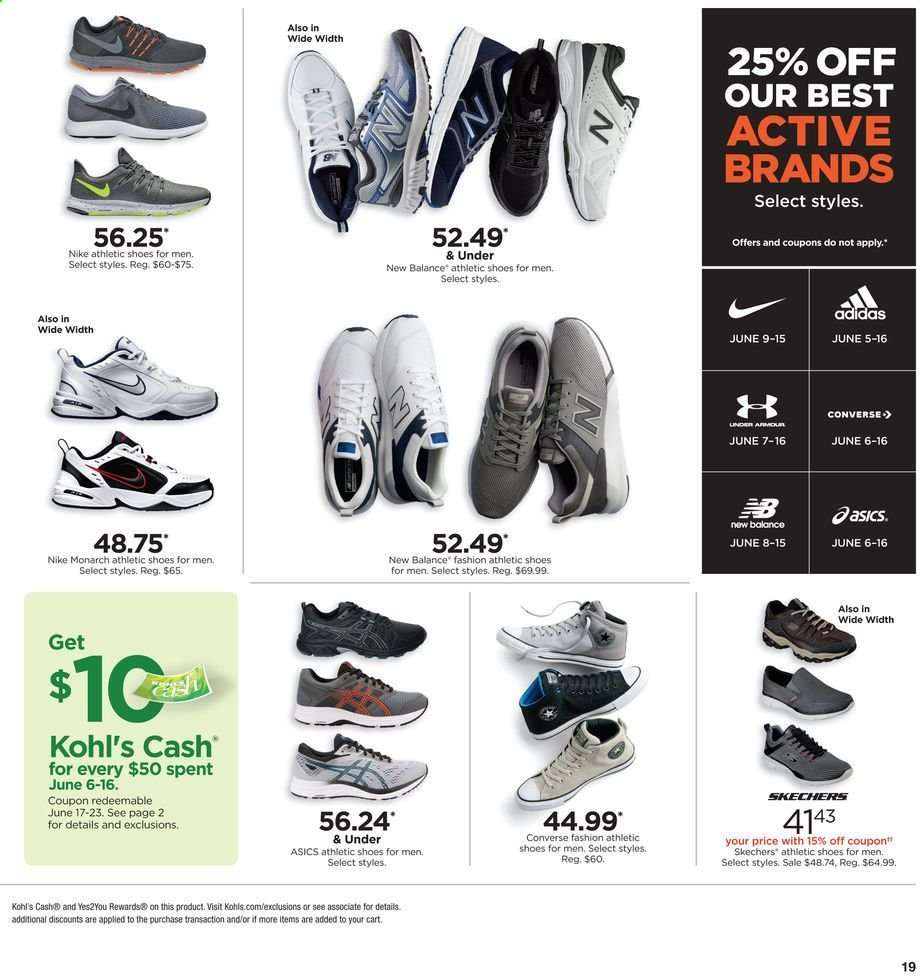 27b3739f595 Kohl's Flyer - 06.06.2019 - 06.16.2019 - Sales products - adidas,.  Advertisements