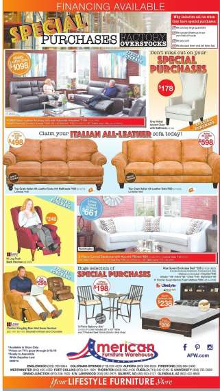 American Furniture Warehouse Westminster Stores Near You