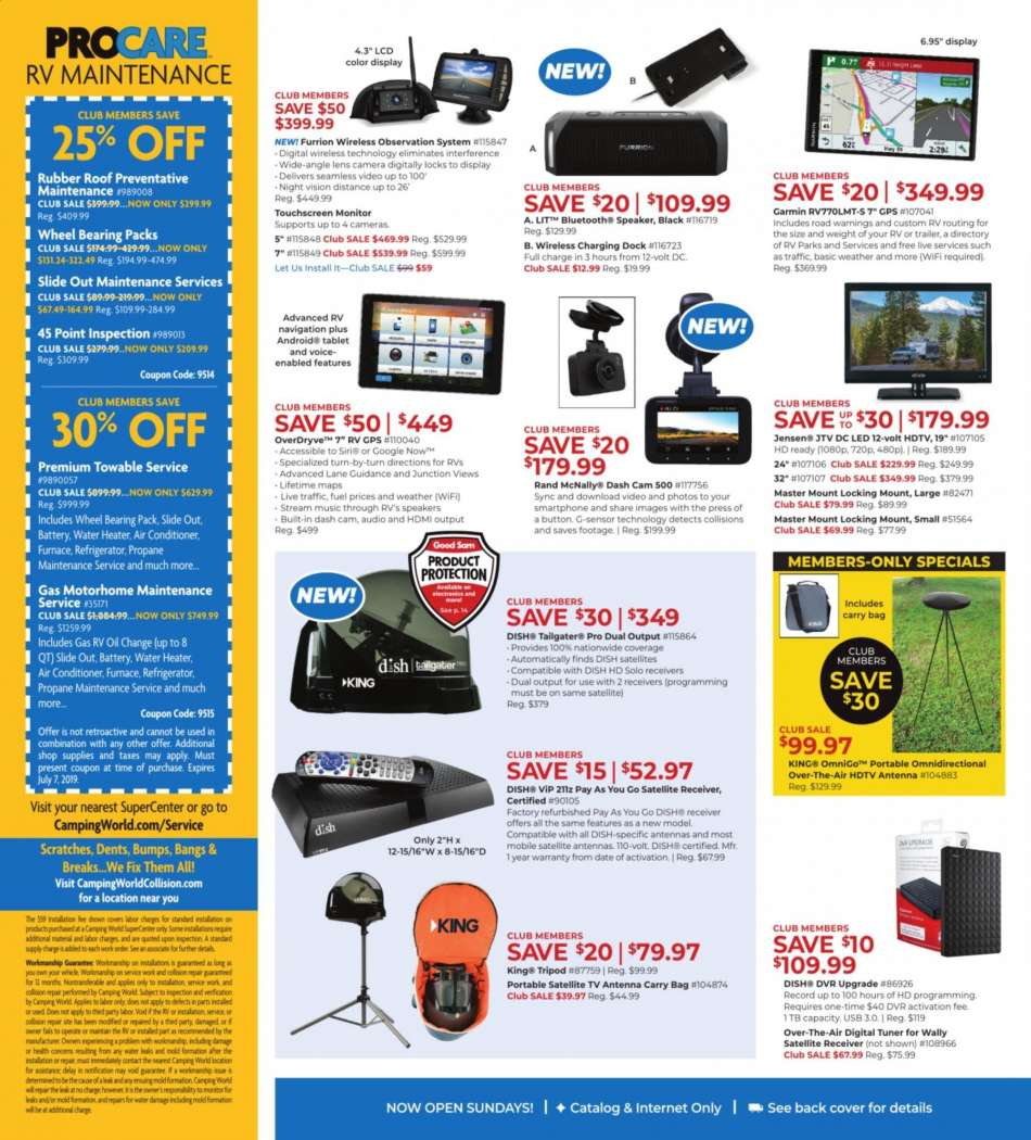 Camping World flyer 06 10 2019 - 06 24 2019 | Weekly-ads us