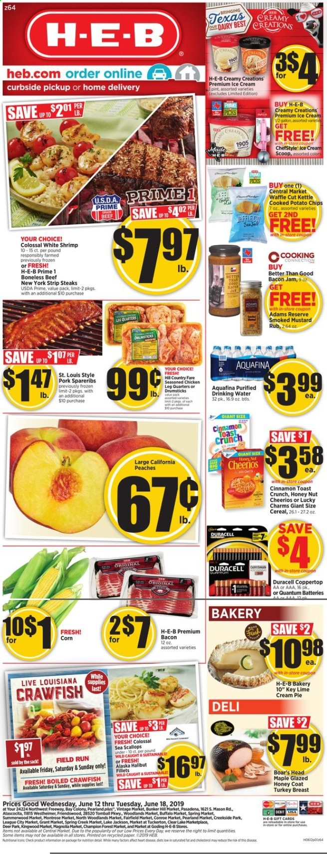 H-E-B Flyer  - 06.12.2019 - 06.18.2019. Page 1.