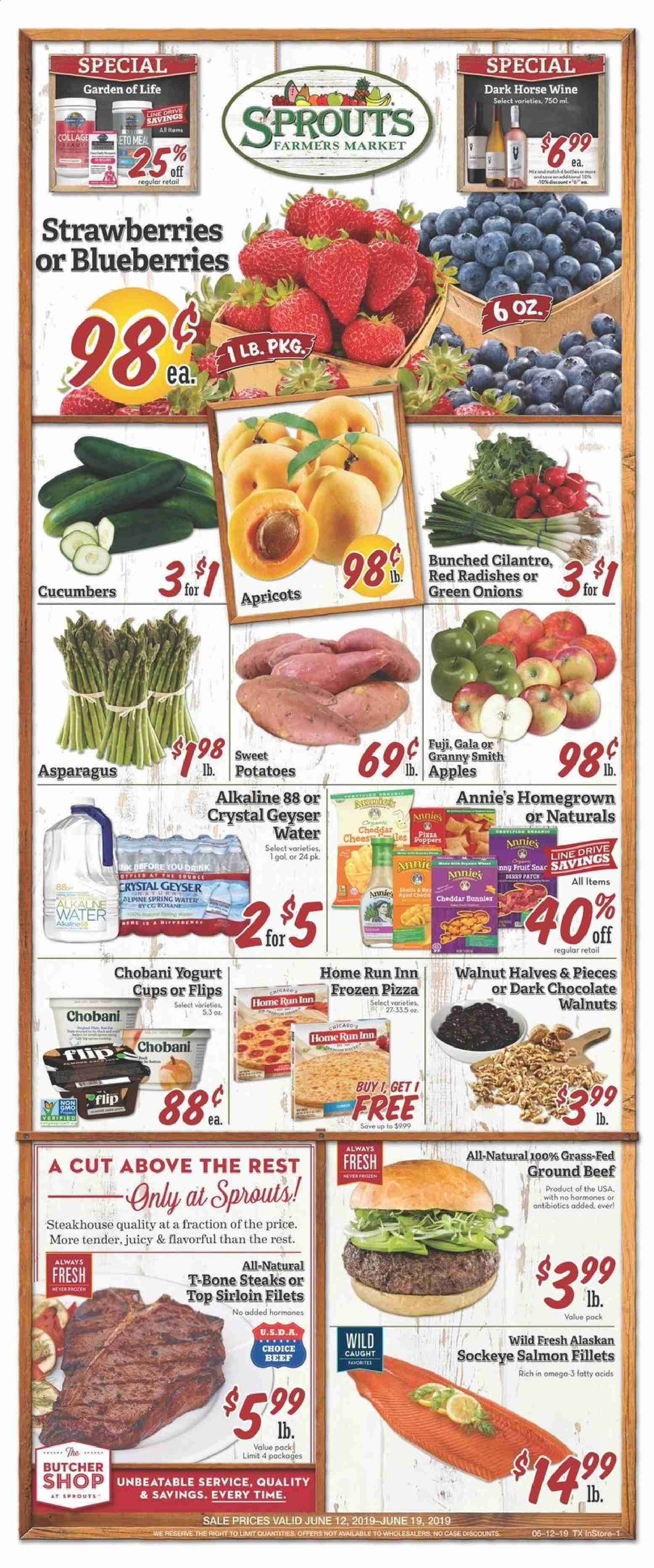 Sprouts Flyer  - 06.12.2019 - 06.19.2019. Page 1.