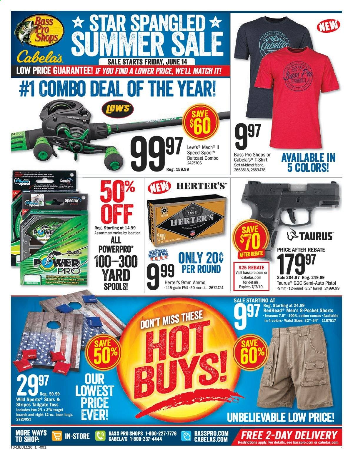 Bass Pro Shops Flyer  - 06.14.2019 - 07.07.2019. Page 1.