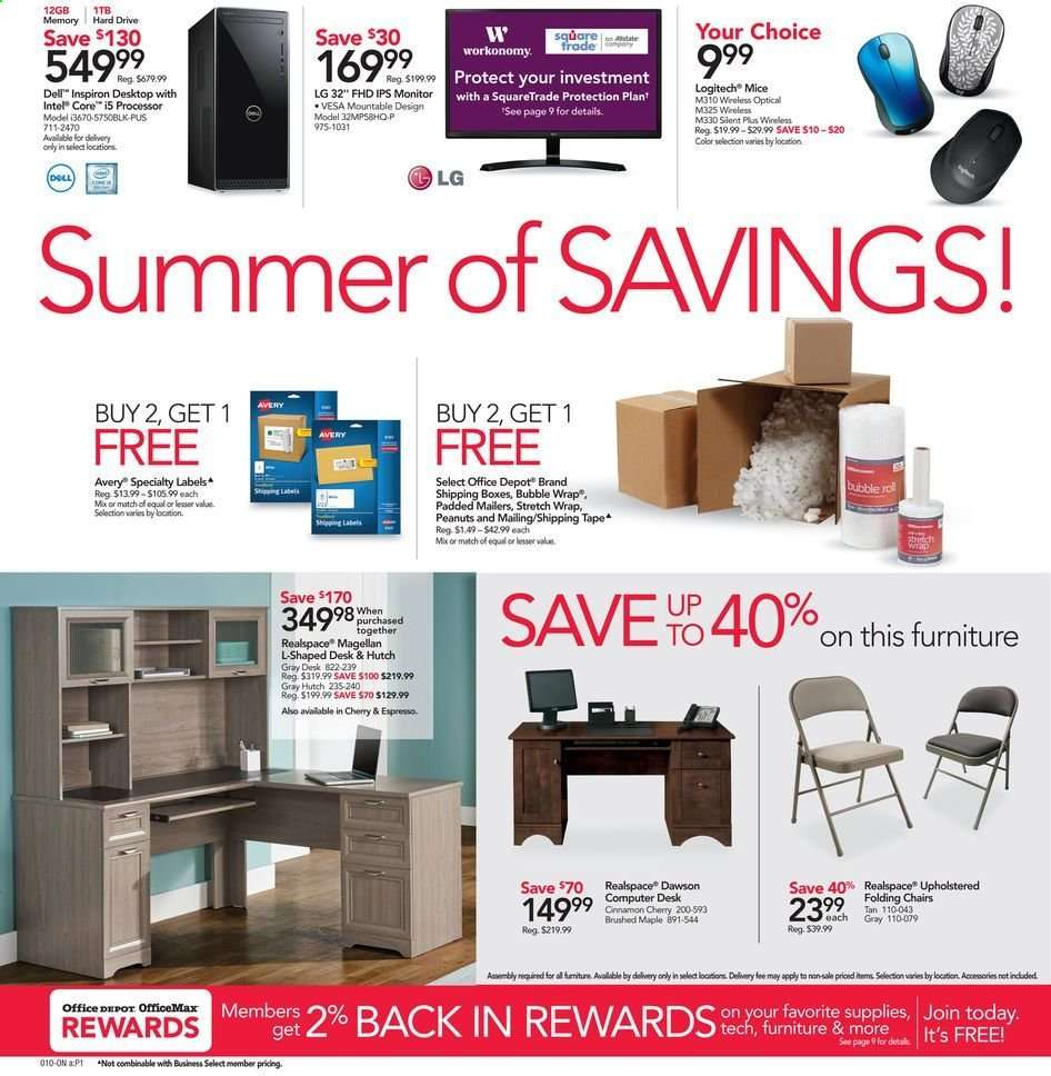 Office Depot Flyer 06 16 2019 06 22 2019 Weekly Ads Us