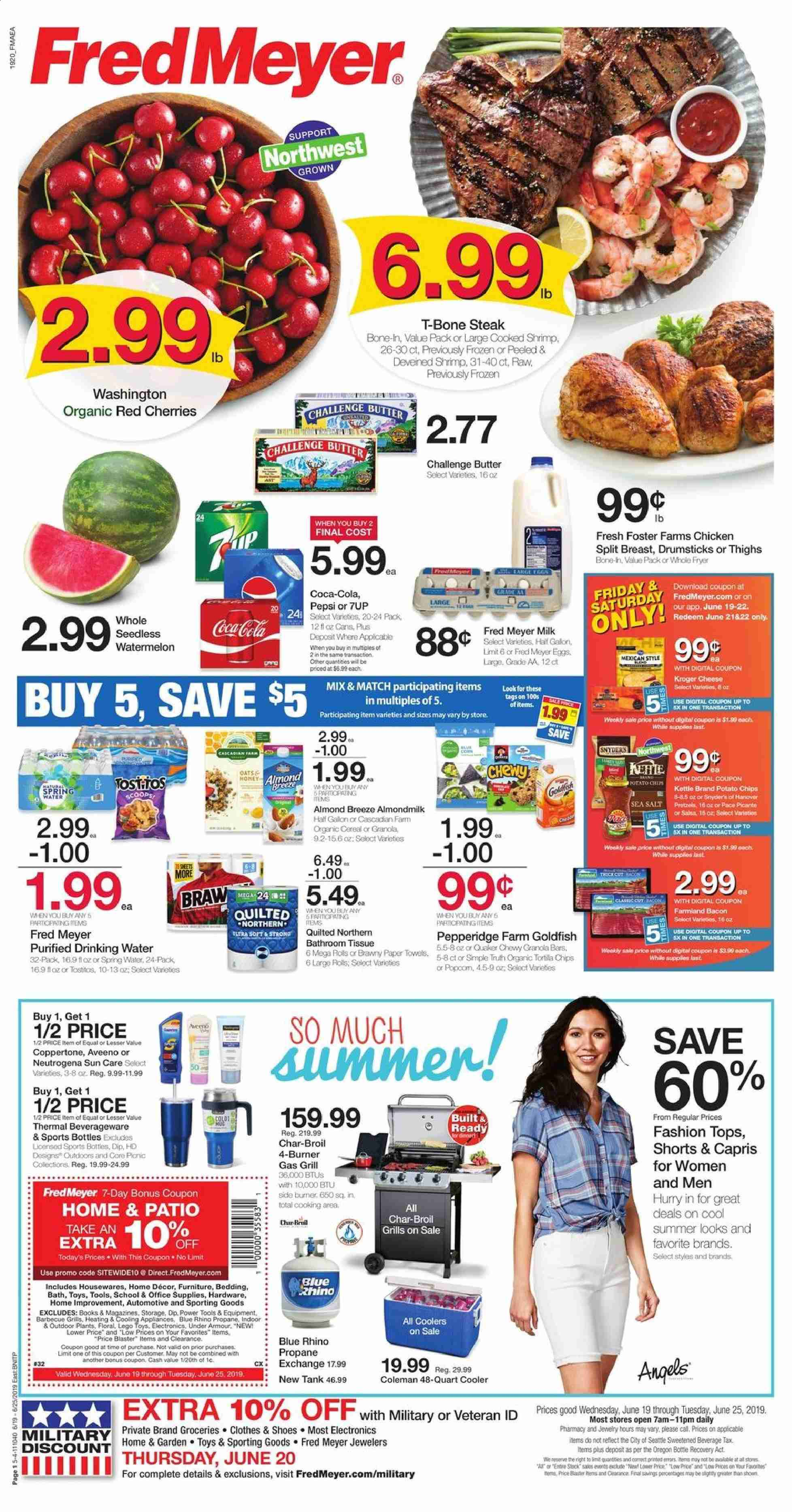 Fred Meyer Flyer  - 06.19.2019 - 06.25.2019. Page 1.