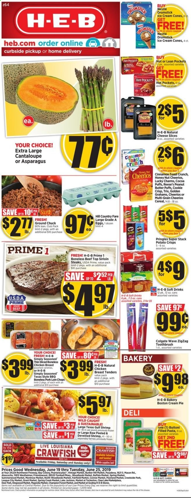 H-E-B Flyer  - 06.19.2019 - 06.25.2019. Page 1.