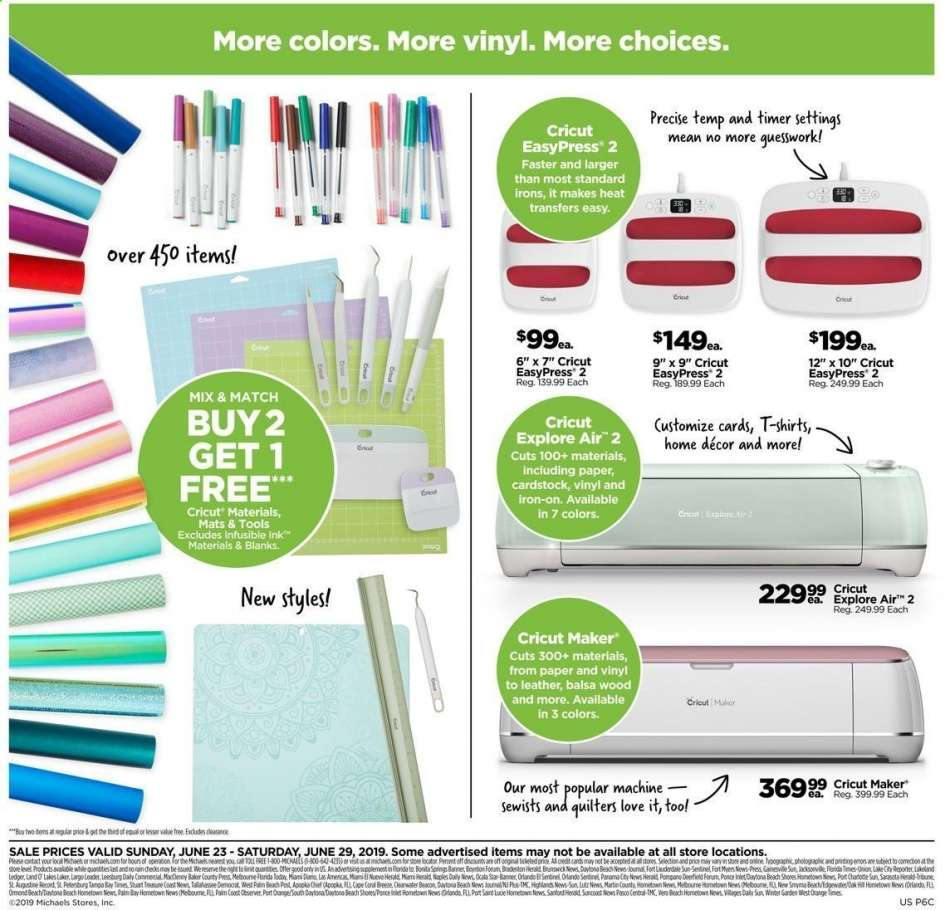 Michaels flyer 06 23 2019 - 06 29 2019 | Weekly-ads us