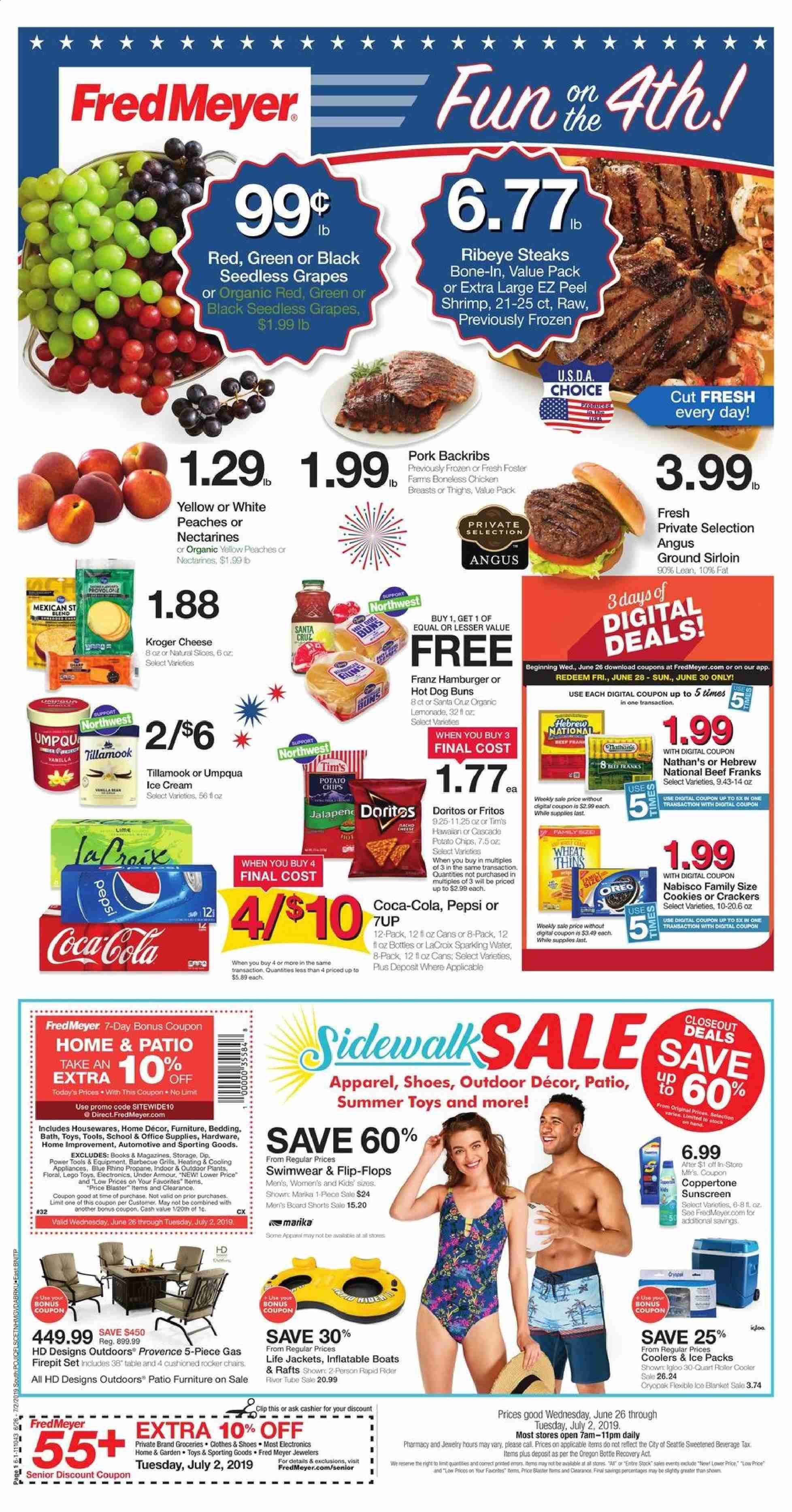 Fred Meyer Flyer  - 06.26.2019 - 07.02.2019. Page 1.