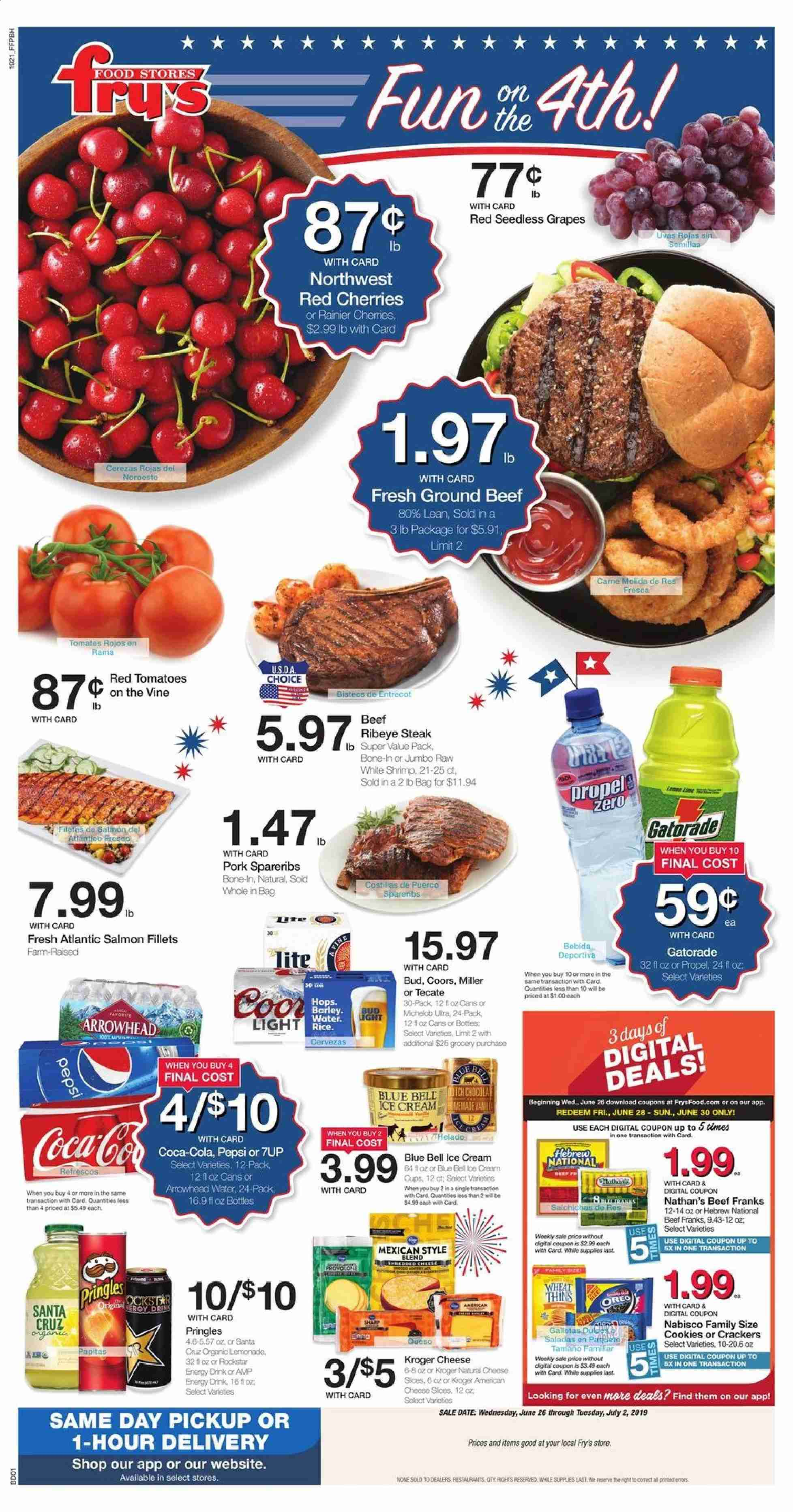 Fry's Flyer  - 06.26.2019 - 07.02.2019. Page 1.
