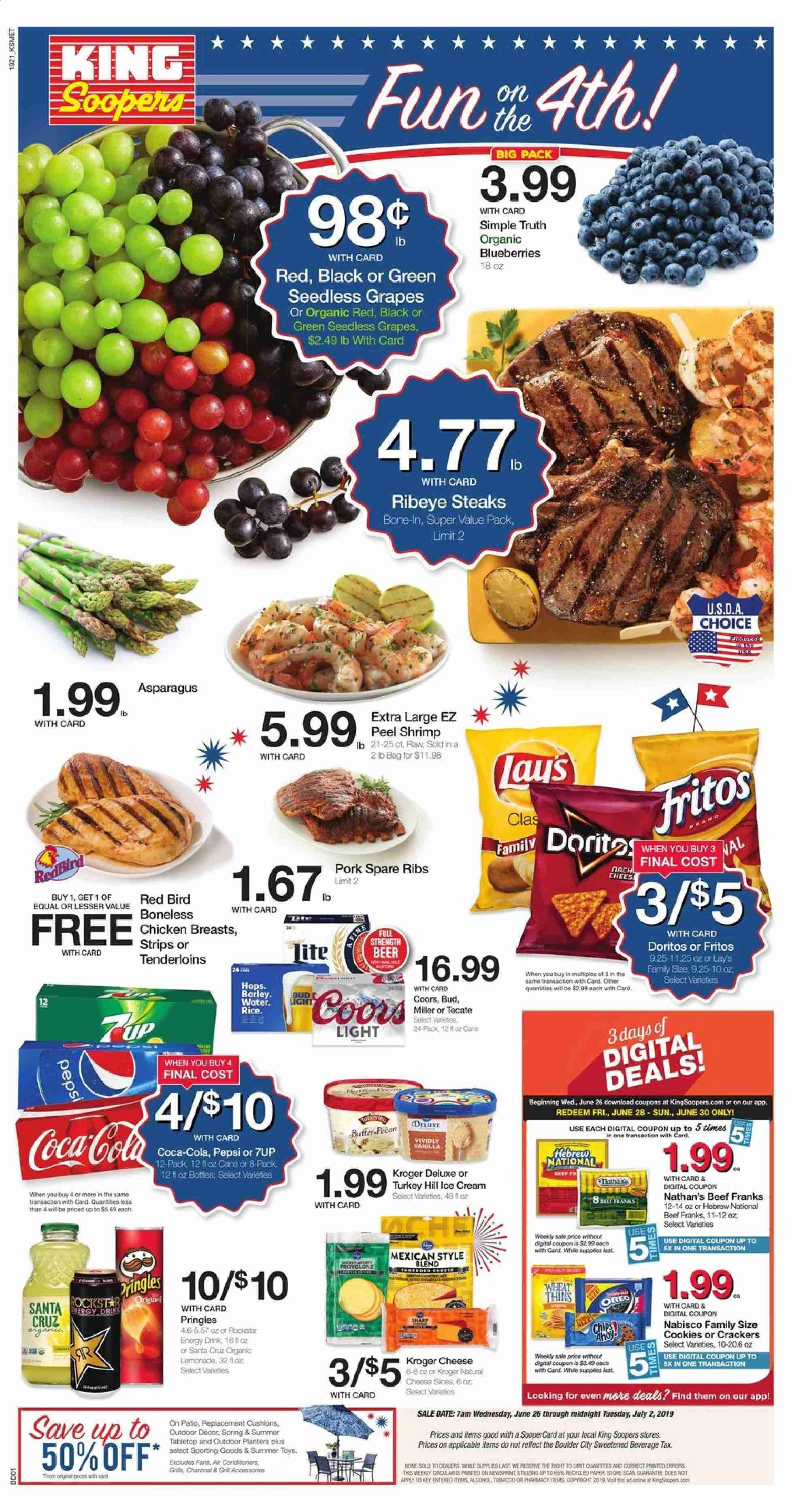 King Soopers Flyer  - 06.26.2019 - 07.02.2019. Page 1.