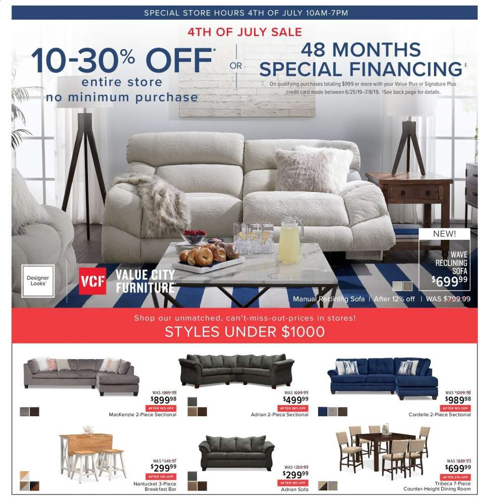 Incredible Value City Furniture Flyer 06 25 2019 07 08 2019 Weekly Caraccident5 Cool Chair Designs And Ideas Caraccident5Info