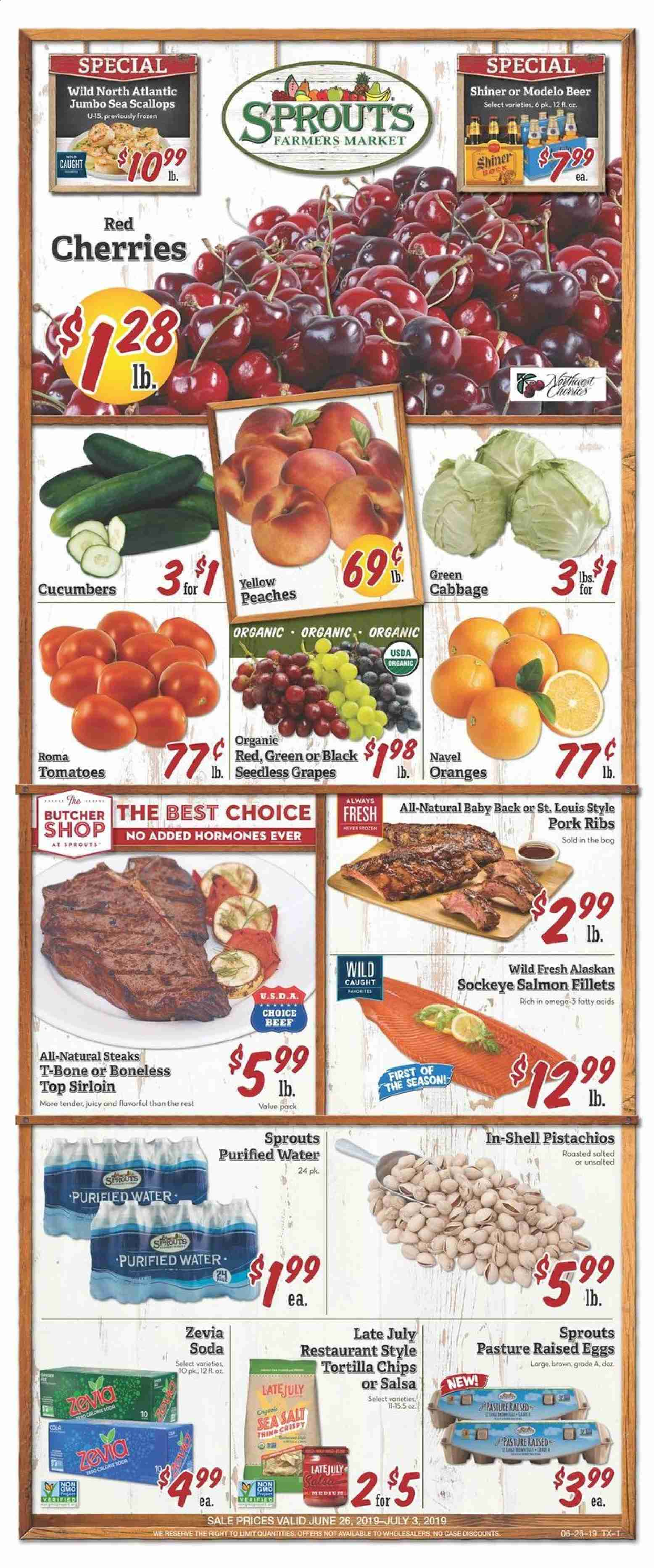 Sprouts Flyer  - 06.26.2019 - 07.03.2019. Page 1.