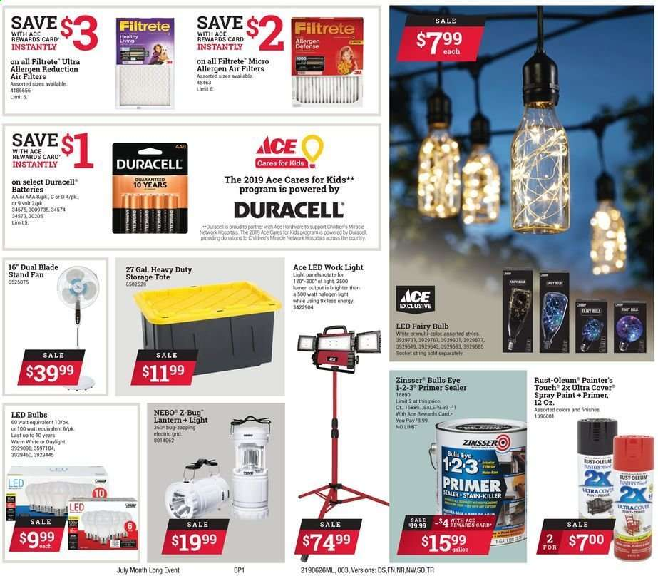 Ace Hardware Flyer 06 26 2019 07 31 2019 Weekly Ads Us