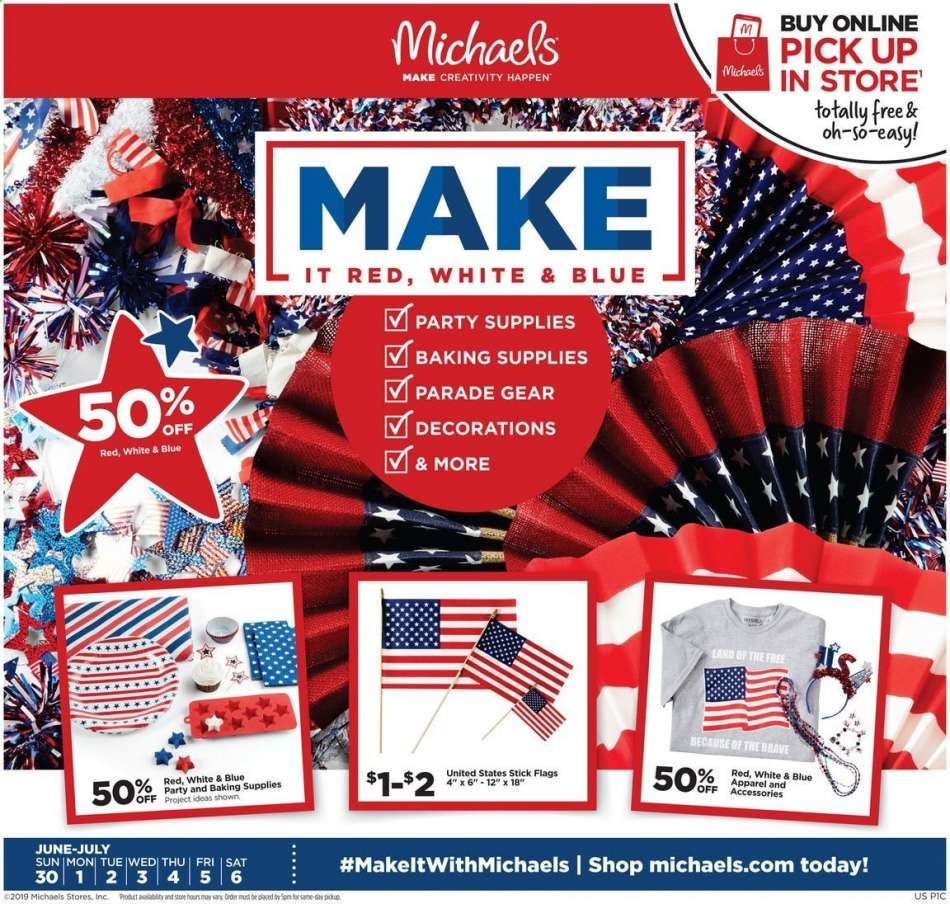 Michaels flyer 06 30 2019 - 07 06 2019 | Weekly-ads us
