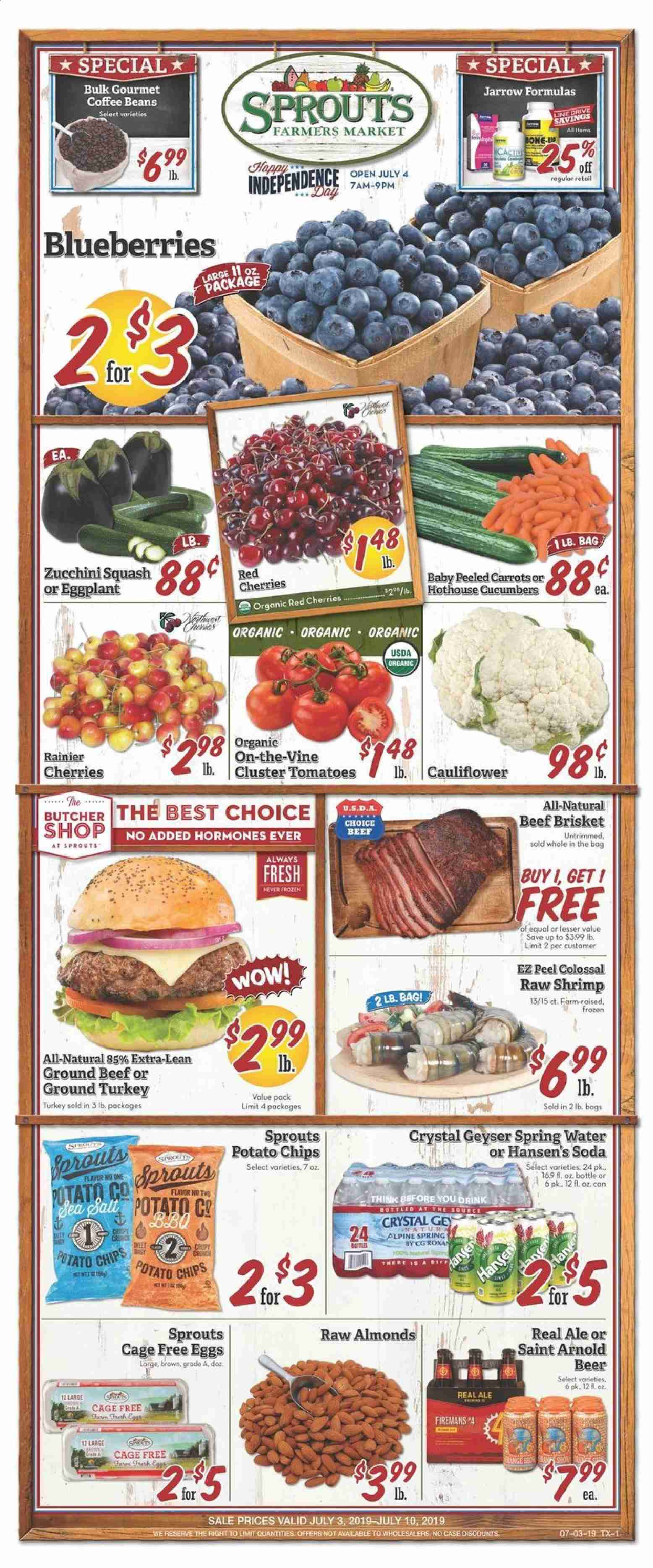 Sprouts Flyer  - 07.03.2019 - 07.10.2019. Page 1.