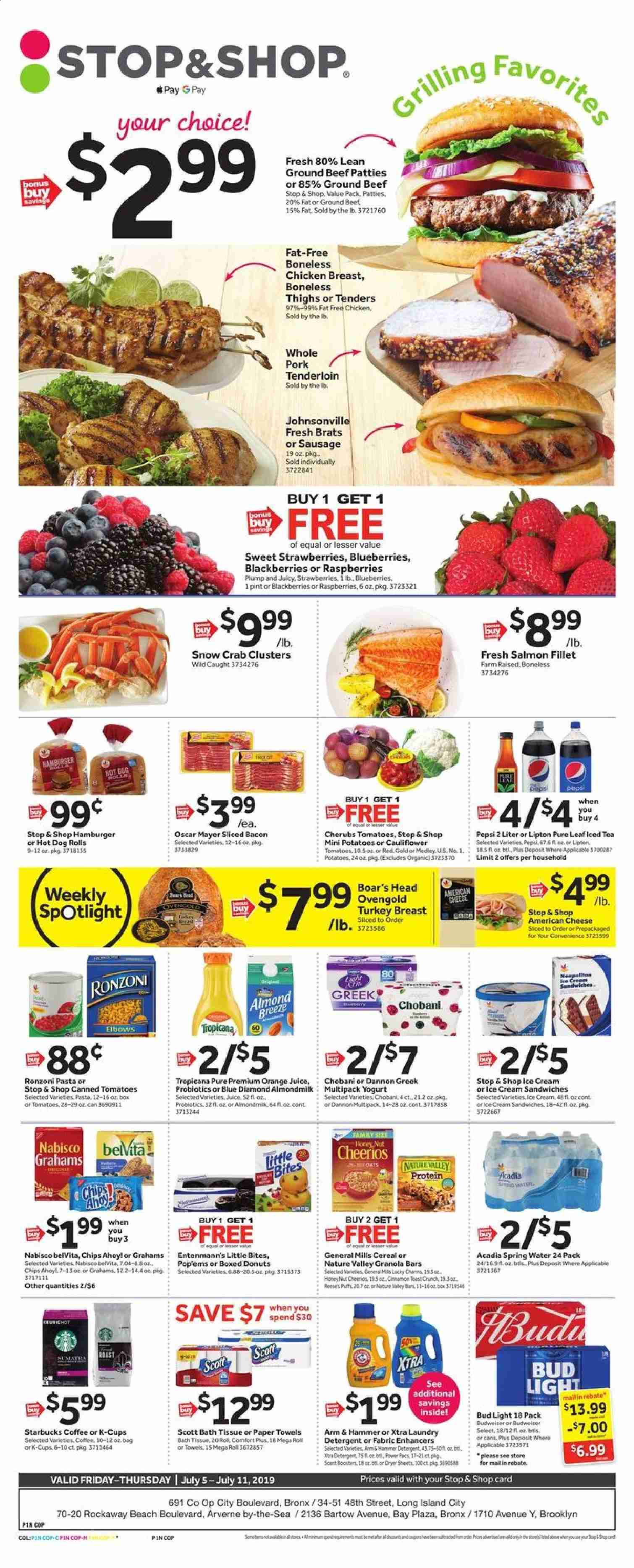 Stop & Shop Flyer  - 07.05.2019 - 07.11.2019. Page 1.