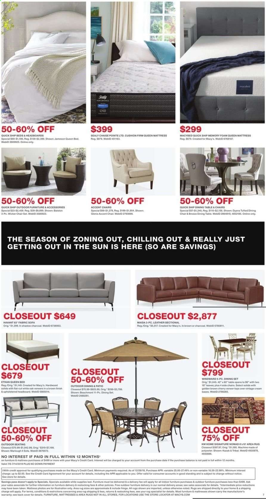 Enjoyable Macys Flyer 07 08 2019 07 14 2019 Weekly Ads Us Onthecornerstone Fun Painted Chair Ideas Images Onthecornerstoneorg